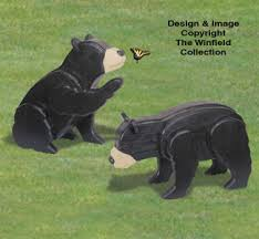 3d animal project patterns 3d size cubs woodcraft pattern