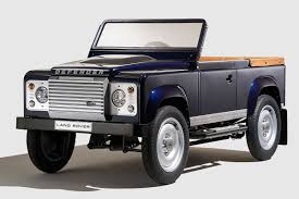 land rover defender concept land rover previews bespoke defender pedal car concept at