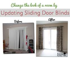 Patio Door Curtain Rod Easy Home Update Replace Those Sliding Blinds With A