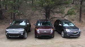 2013 ford explorer review 2013 chevy equinox v ford explorer v jeep grand road