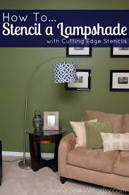 title u003e how to stencil a lampshade with cutting edge stencils