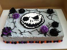 nightmare before birthday sheet cake