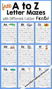 alphabet letter mazes with different letter fonts letter maze