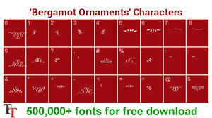 bergamot ornaments font bergamot ornaments ttf otf zip file