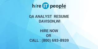 Sample Resume For Qtp Automation Testing by Qa Analyst Resume Davison Wi Hire It People We Get It Done