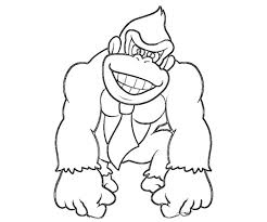 donkey kong coloring pages to download and print for free within