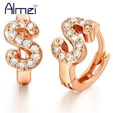 s earrings letter s earrings for women orecchini silver jewelry pendientes