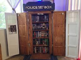 Small Bookshelf Plans This Tardis Bookshelf Diy Is Actually Bigger On The Inside Our
