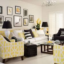 yellow livingroom yellow and black living room home intercine