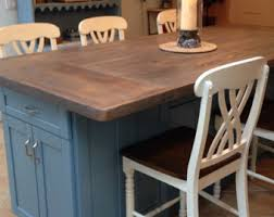 wood top kitchen island kitchen island etsy