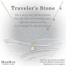 stone silver necklace images Maemae jewelry quot traveler 39 s stone quot wanderlust necklace moonstone jpg