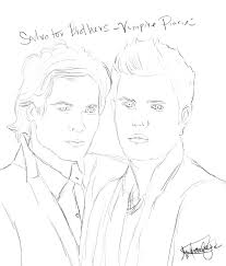 15 images of the vampire diares coloring pages to print damon