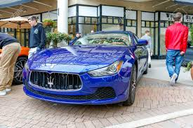Redmond Wa April 29 2017 Blue Maserati Ghibli G4 At Exotic