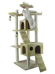 cat furniture amazon com cat tree beige cat tower pet supplies