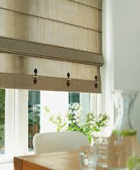 kitchen window blinds ideas embellish shades with faux leather toggles for a utilitarian