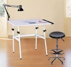 Folding Drawing Table Desk Combo W Stool Side Tray U0026 Lamp