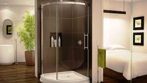 shower delicate one piece fiberglass corner shower stalls