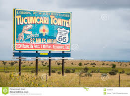 Old Route 66 Map by Route 66 Billboard Tucumcari Tonite Editorial Photo Image 45363076
