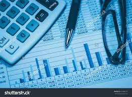 Financial Calculator Spreadsheet Accounting Financial Bank Banking Account Stock Stock Photo