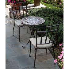 3 piece outdoor bistro patio furniture set in espresso in 3 piece