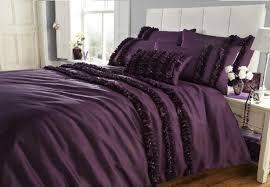 Dark Purple Bedroom by Bedroom Luxurious Dark Purple Duvet Cover Bedding And Accent