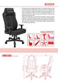 Ergonomic Computer Chair With Footrest And Headrest Also Adjustable Laptop Holder Amazon Com Dxracer Classic Series Doh Ce120 N Big And Tall Chair