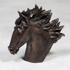 large bronzed horse head statue unusual accessories home decor