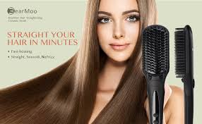 amazon com hair straightener brush bearmoo best straightening