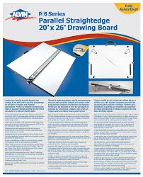 Drafting Table Straight Edge by Alvin Pxb Series Portable Parallel Straightedge Board 20