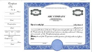 doc 736568 printable stock certificates u2013 blank certificate