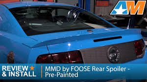 2014 mustang rear 2010 2014 mustang mmd by foose rear spoiler pre painted review