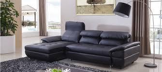 canapé lit cuir canapé d angle gauche convertible cuir noir mezzio