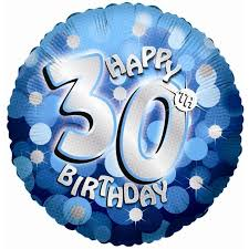 30th birthday balloons delivered blue sparkle party happy birthday 30th balloon delivered inflated