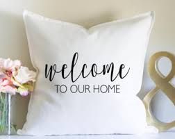welcome home pillow etsy