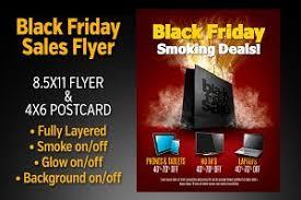black friday smoker black friday sales flyer set flyer templates creative market