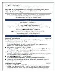 resumes for nurses template nursing student resume sle