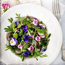 edible flowers baby leaf salad with edible flowers in recipes at lakeland