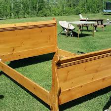 Pine Sleigh Bed Frame Find More Pine Sleigh Bed Rails Headboard Footboard Size