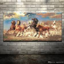 art painting for home decoration 2017 modern oil painting no frame abstract horses canvas animal