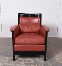 Leather Club Chair Mid Century Pair Of Leather Club Chairs By Umberto Asnago For