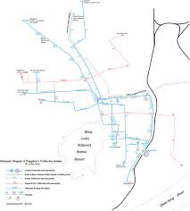 Dublin Ohio Map by Trolleybus Route And Overhead Maps