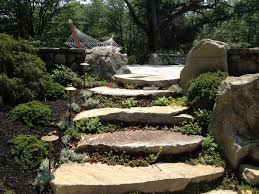 Rock Garden Steps by A Set Of Stairs