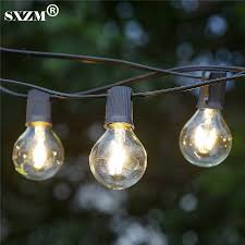 commercial outdoor string lights sxzm 7 6m 25pcs g40 indoor outdoor commercial grade string lights