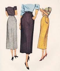 stylish slim skirt pattern mccall 7897 four panel skirt waist 28