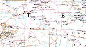 Interstate Map Interstate 10 West Texas Photos Pecos Crockett Counties