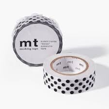 mt washi tape black dot unison