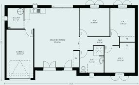 plan maison 3 chambres plain pied garage plan maison plain pied 120m2 inspirational maison plain pied 4