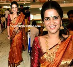 reception sarees for indian weddings divyadharshini in a traditional saree south india fashion