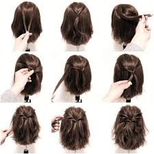 back view of medium styles medium hair styles short hairstyles with side bangs view for easy