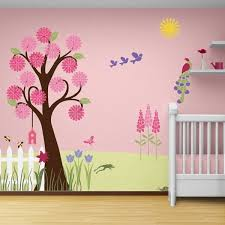 wandgestaltung mädchenzimmer wandmalerei im kinderzimmer ein entzückendes ambiente erschaffen